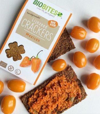 biobites mexican lijnzaad crackers