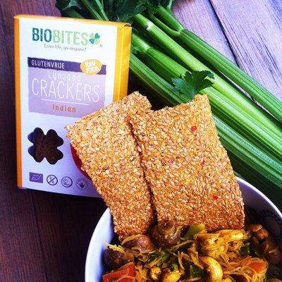biobites indian lijnzaad crackers