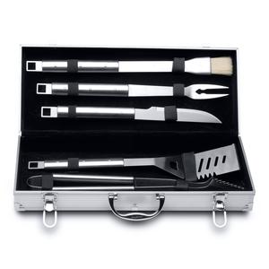 6-delige barbecueset in aluminium koffer - Essentials