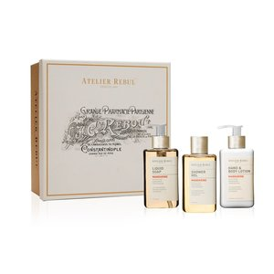 Atelier Rebul Mandarine Liquid Soap, Shower Gel and Hand & Body Lotion Giftset