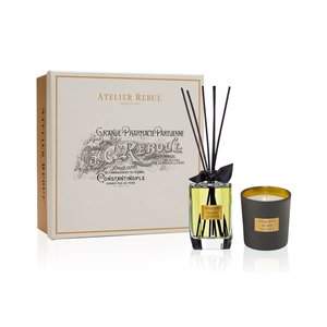 Atelier Rebul Hemp Leaves Fragrance Sticks and Scented Candle Giftset
