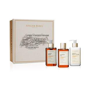 Atelier Rebul Lemongrass & Honey Liquid Soap, Shower Gel and Hand & Body Lotion Giftset