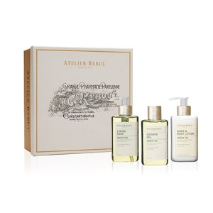 Atelier Rebul Green Tea Liquid Soap, Shower Gel and Hand & Body Lotion Giftset
